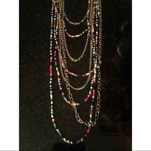 H&M Long 8-Strand Beaded Necklace